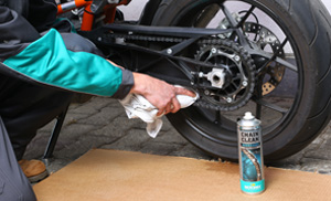 motorex chain clean using